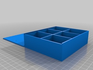Parametric compartment box with lid