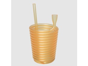 Anti gravity straw cup