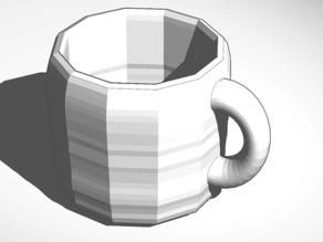 mug made with smoothie-3d-modeling and tinkercad