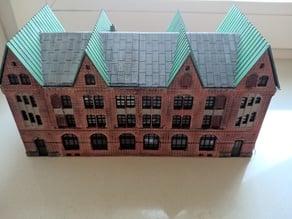 H0 scale (1/87) storage building model from Speicherstadt Hamburg