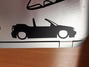 VW Golf mk3 convertible sideview