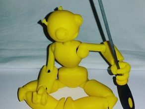SETH - 3D Printed Jointed Robot (Easy Print Slic3r Settings)