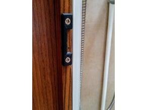 camper lock closure plate