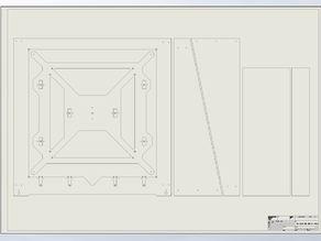 Mega Prusa i3 rework Frame Acrylic or MDF