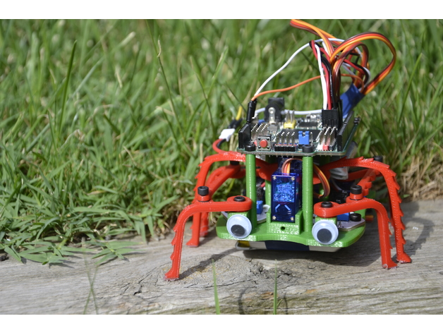 Doodle Robot-A simple hexapod Robot by jcarolinares