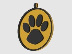 Dog pet pendant - pendentif pour chien