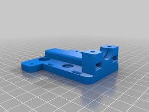 Mini V-Wheel Carriage for E3D v6 Extruder