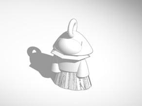 tinkercad tinker of lady pendant