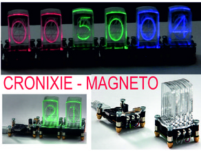 CRONIXIE-MAGNETO, the new version with mini LED SK6812