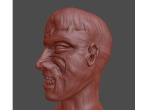 Zombie Head Sculpt