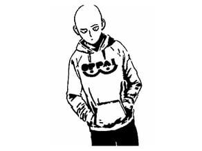 OP Saitama stencil