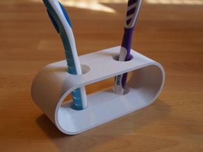 Designer Toothbrush Holder w/ Flow Control