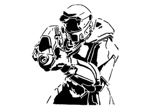 Halo Master Chief stencil 2