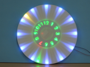 ANIMATED RGB WALL CLOCK