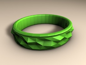 LowPoly Spike Bracelet v1 (signed) - VisualBoy