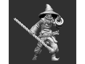 Human male mage for fantasy d&d