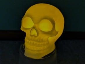 Minimalist Glowing Skull