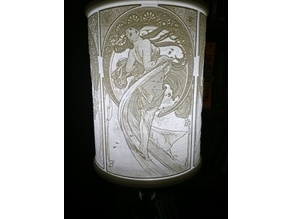 Alphonse Mucha Lampshade #1 (Four Seasons)
