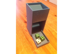 Small Dice Tower for Castles of Burgundy