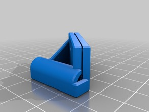 4mm OD bowden tube beveling jig for use with single edge razors.
