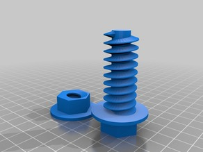toy bolt and nuts (single nut + bolt)