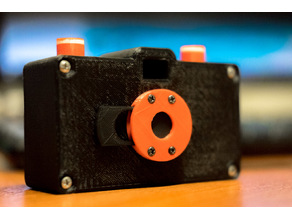 Shutter with holes for screws for the Pinhole Camera