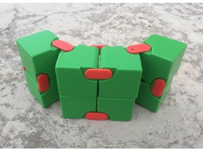 Snapping Hinged Infinity Cube, Magic Cube, Flexible Cube, Folding Cube, Yoshimoto Cube