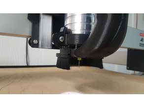 Brush Adapter for Shapeoko Vacuum Attachment for DWP611