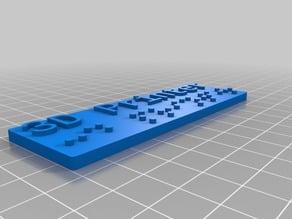 Complete Braille Alphabet