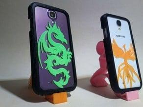 S4 Dragon and Phoenix case