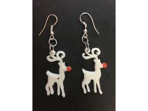 Christmas Deer Earrings