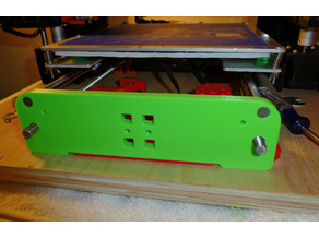 Anet A6 Front Plate for Y Rods and Belt