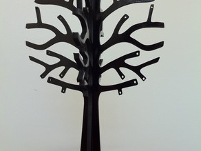 Laser Cut Jewelry Tree 3mm