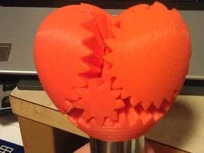MOTORIZED screwless heart gears!