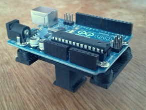 Hotshoe-mountable holder for Arduino Uno