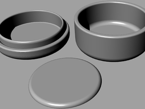 Round Box with Lid (and Lid Cap)