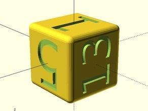Customizable Unicode d6 with beveled edge