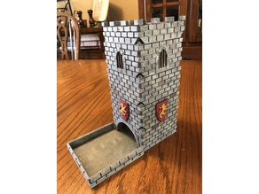 Dice Tower - Modular Castle with Snug Tray