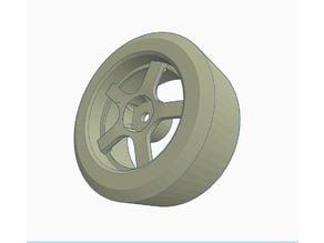 1/10 Drift Wheel | RC Car Wheel /w Tire | Tamiya
