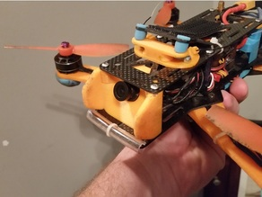 FPV Board Camera 25 Degree Mount - With Bumpers (Emax NightHawk 250)