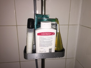 Snap On ShowerGel/Soap Holder With Dripping holes&line