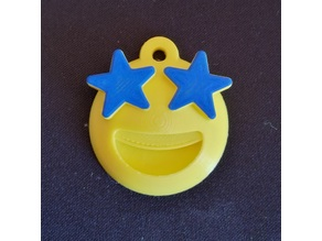 Emoji Star Struck Keychain