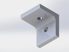 4040 Extrusion 90 degree corner, one hole, T-Slot Fastener