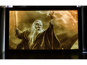 Gandalf Lithophane