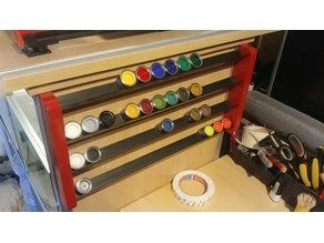 Revell Colour Paint Shelf  Rack / Farbregal Revell Email Color