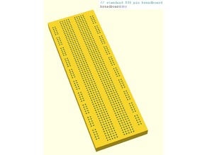 Customizable Parametric OpenSCAD Breadboard