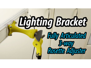 Video Lighting Bracket - 3 way articulation