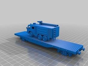 50 t flat car platform 1:87 - HO / H0 scale