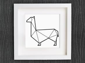 Customizable Origami Lama / Llama