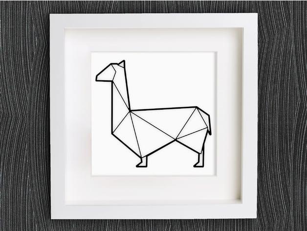 Customizable Origami Lama Llama By Mightynozzle Thingiverse